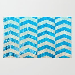 Aquatic Gradient -Wide Cevrons Rug