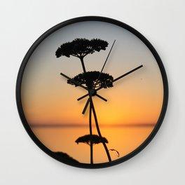 Summer Sunset at Clear Lake Wall Clock