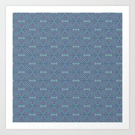 Blue Patch Art Print
