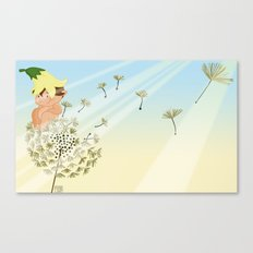 Resting on a dandelion Canvas Print