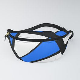 China Blue Geometric Triangle Abstract Fanny Pack