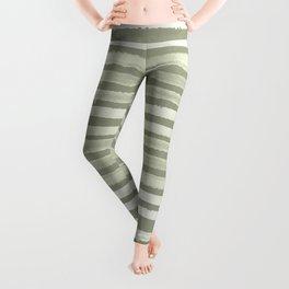 Simply Shibori Stripes Green Tea and Lunar Gray Leggings