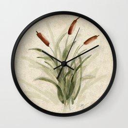cattails 2 Wall Clock