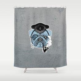 Sailor Pug Shower Curtain