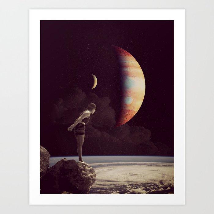 A View Of  Jupiter Art Print