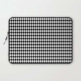 mini Black and White Mini Diamond Check Board Pattern Laptop Sleeve