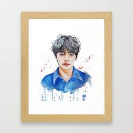 Taehyung watercolor Framed Art Print