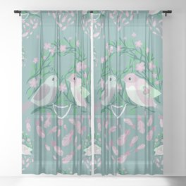 Love is in the air Spring Birds 04 Sheer Curtain