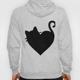 Cute Heart Cat Hoody