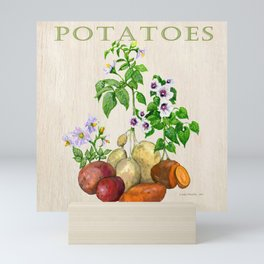 Potatoes and their Blossoms Mini Art Print