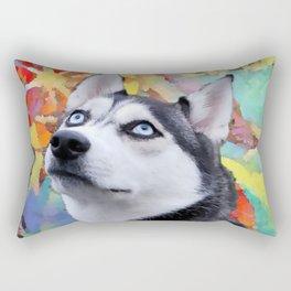 Dreaming Husky Rectangular Pillow