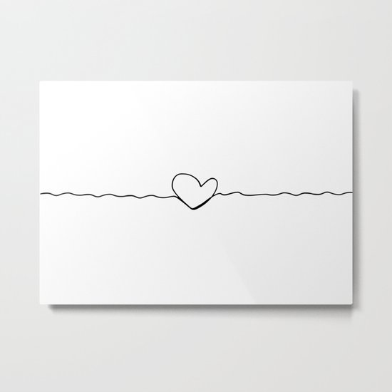heart line Metal Print