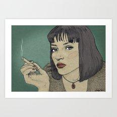 Mia (Mia Wallace Pulp Ficion) Art Print