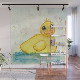 Bath Time Ducky - Watercolor Wall Mural