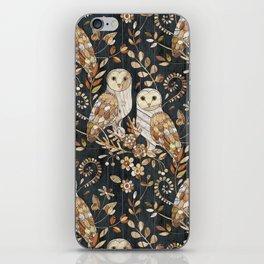 Wooden Wonderland Barn Owl Collage iPhone Skin