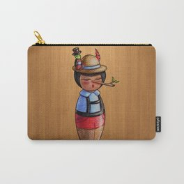 Kokeshi Pinocchio and the Cricket Carry-All Pouch
