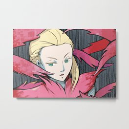 Touched by Petals Metal Print