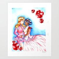 utena Art Prints featuring Manga Utena & Anthy by Purple Alien