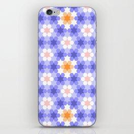 Stars and hexagons iPhone Skin