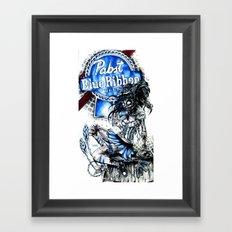 PBR ZOMBIE GIRL Framed Art Print
