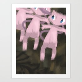 Mew Descending A Staircase Art Print
