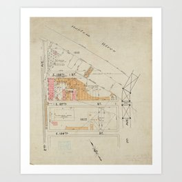 Map bounded by 2nd Ave., Harlem River, 1st Ave., E.126th St. Art Print