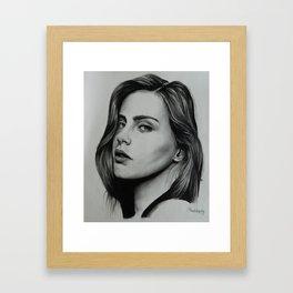Model: Bridget Satterlee Framed Art Print