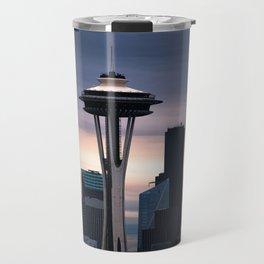 Space Needle Sunset - Seattle Nights Travel Mug