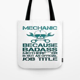 BADASS Mechanic Tote Bag