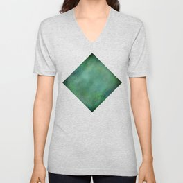 Looking into the depths of green Unisex V-Neck