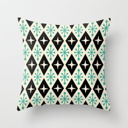 Mid Century Modern Atomic Triangle Pattern 122 Throw Pillow