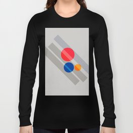 Abstract Suprematism Equilibrium Art Red Blue Yellow Long Sleeve T-shirt