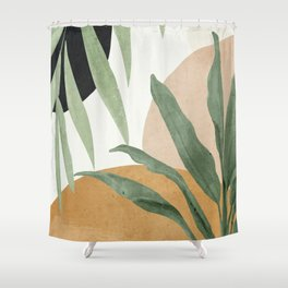 Abstract Art Tropical Leaves 4 Shower Curtain