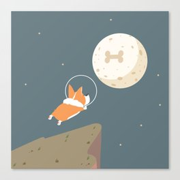 Fly to the moon Canvas Print