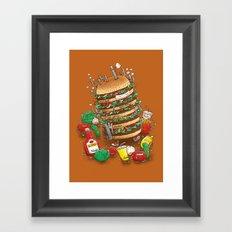 Uber BurgerBot Framed Art Print