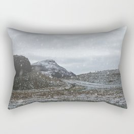 A Snowy Arthur's Seat Rectangular Pillow