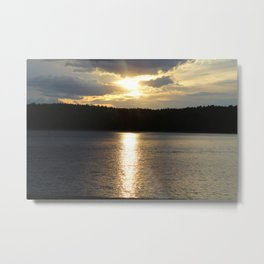 Sunset at Concord's Walden Pond 8 Metal Print
