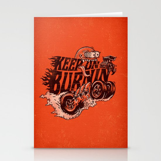 'KEEP ON BURNIN' Stationery Cards