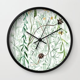 My Garden Plants Wall Clock