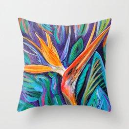 """""""Bird of Paradise"""" Throw Pillow"""