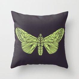 The envy of the moth - Geometric design Throw Pillow