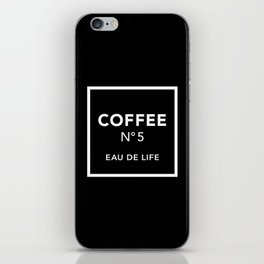Black Coffee No5 iPhone Skin