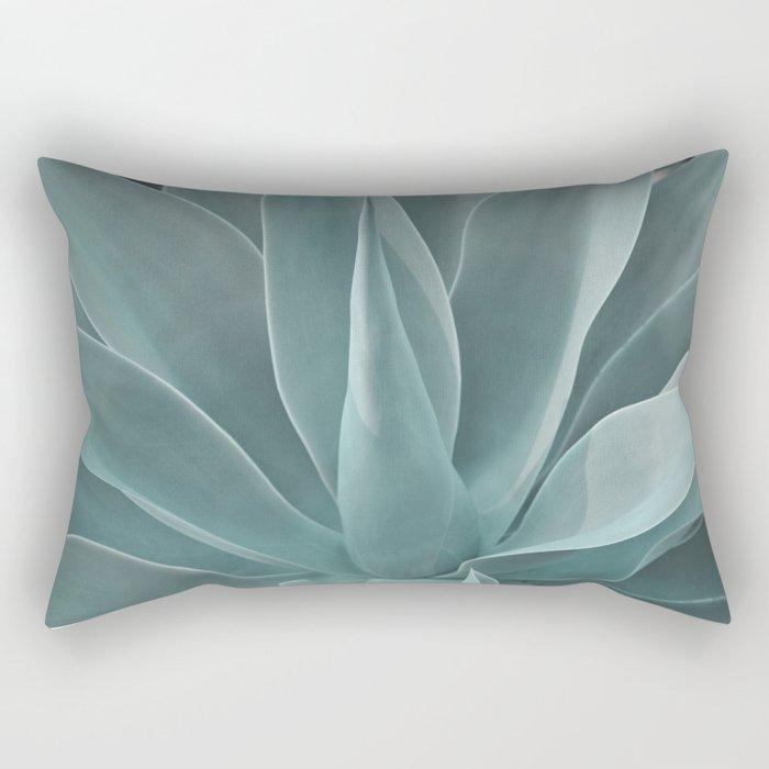 Azul Succulent Agave Plant Rectangular Pillow