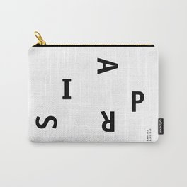 Paris / Poster, City, Place, Metropolis, Geography, France, Europe, City Poster, Map, Art Print Carry-All Pouch
