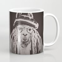 funky Mugs featuring Funky Llama by Paula Belle Flores