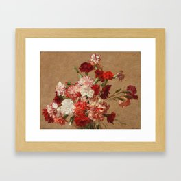 Henri Fantin Latour - Carnations Without Vase Framed Art Print