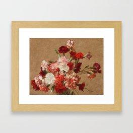 Henri Fantin Latour - Carnations Without Vase Framed Art Print