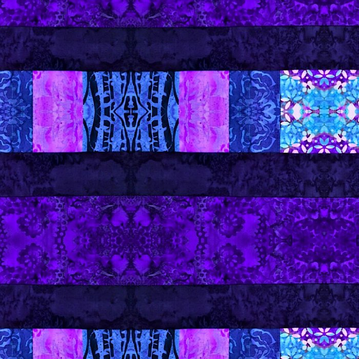 Quilt Top - Deep Purple Leggings