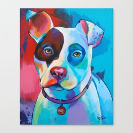 Pete - Pitbull Pop Art Canvas Print