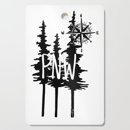 PNW Trees & Compass Cutting Board